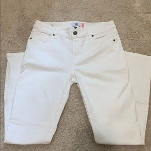 Cabi High Skinny White Jeans